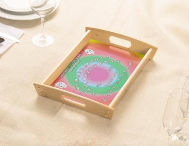 Wood Colorful Tray