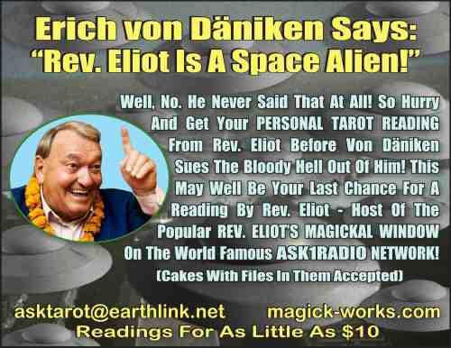 Erich von Däniken Tarot Notice copy